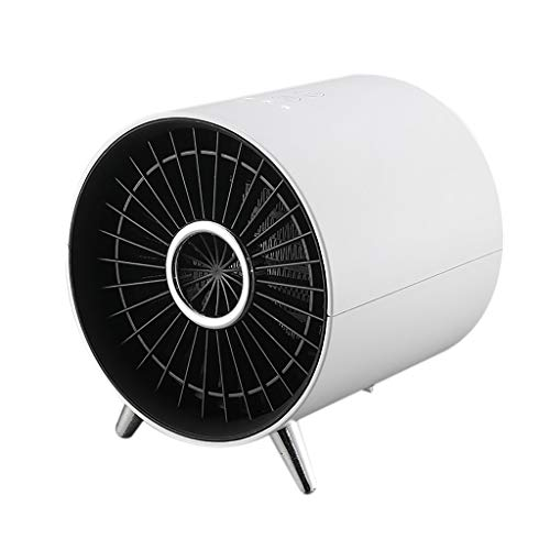 MIS1950s Ceramic Space Heater Fan Silent, Portable Electric Mini Air Heating Warmer with Auto-oscillating, Hot & Natural Wind for Home Office Under Desk (White)