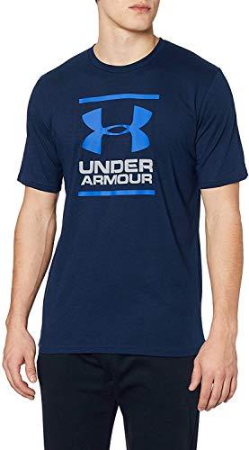 Under Armour UA GL Foundation Short Sleeve Tee, T-Shirt Homme, Bleu (Academy / Steel / Royal), M