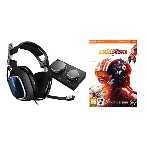 ASTRO Gaming A40 TR Auriculares alámbricos y MixAmp Pro TR, 4ta Gen, Astro Audio V2, Dolby Audio, micrófono Intercambiable, Control de Balance de Juego/Voz + Star Wars: Squadrons, PC