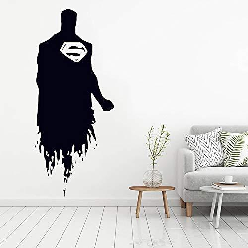 JXFM DIY Customized Gerechtigkeit Fledermaus Superman Held Strichmännchen Wandkunst Aufkleber Bild Film Manga Vinyl Abnehmbare Tapete