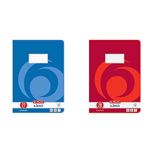 Herlitz 340273 Heft A4, 32 Blatt, Lineatur 27, FSC Mix, 5 Stück + Herlitz 340281 Heft A4, 32 Blatt, Lineatur 28, FSC Mix, 5 Stück