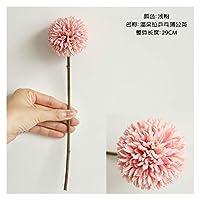 フェイクフラワ 1ピース29cm人工的なタンポポの花のシルクヒヤシンスの花の結婚式の装飾のためのホームパーティーの庭の装飾 造花 (Color : Light Pink)