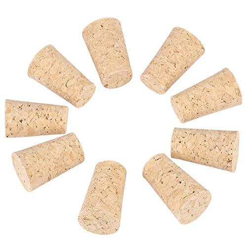 Insmart 10 Stück 2 Arten Wein/Bier Flaschenverschluss (20 * 15 * 35mm) Naturkorken Kegel Korken aus Holz