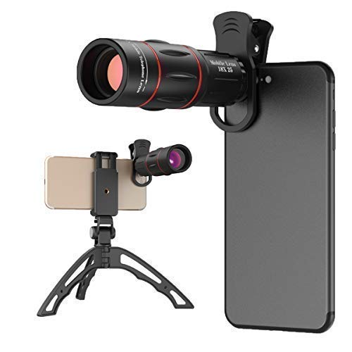 18X Smartphone Telephoto Lens with Tripod, Cell Phone Camera Zoom Lens Kit for iPhone 7, 8, X, 6s Plus, Samsung S8, S9 Most Android Cell Phone