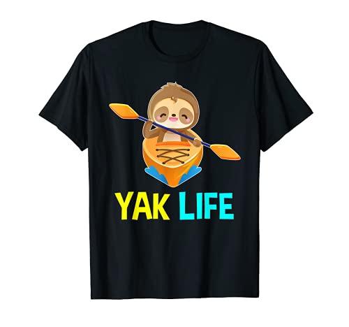 Yak Life Perezoso Kayak Equipo de Remolque Kayak Camiseta