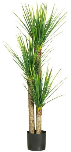 "Nearly Natural 5237 Yucca Silk Tree, 58.5-Inch, Green,62.5"" x 9"" x 9"""