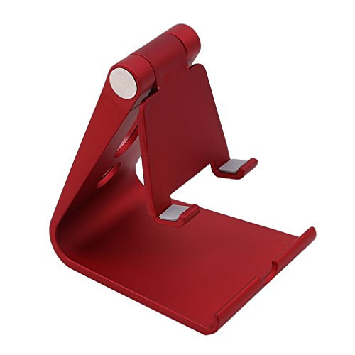 LALANG Adjustable Cell Phone Stand Desktop Cellphone Stand Fits All Smart Phones (red)