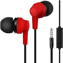 Auriculares internos, Auriculares con Cable con micrófono y Controles de Volumen compatibles con el teléfono.