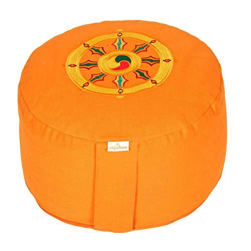 Meditationskissen Glückssitz Rondo Dharmarad orange, orange