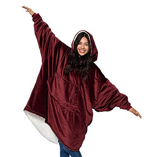 THE COMFY Original | Oversized Microfiber & Sherpa Wearable Blanket, Seen On...