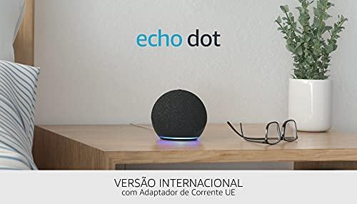 Nuevo Echo Dot (4.ª generación), versión internacional | Altavoz inteligente con Alexa | Antracita | No disponible en portugués (Portugal)
