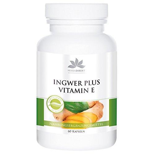 Jengibre + Vitamina E– Altamente dosificado – 60 cápsulas