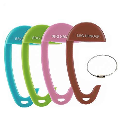 OOTSR Handtaschenhaken für Tische [4-Pack], tragbare ABS-Handtaschenaufhänger, Handtaschenhaken für Frauentaschen, die am Schreibtisch im Café-Shop oder in der Bibliothek hängen
