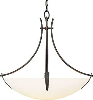 Feiss F1889/3ORB Boulevard Glass Uplight Bowl Pendant Lighting, Bronze, 3-Light (24