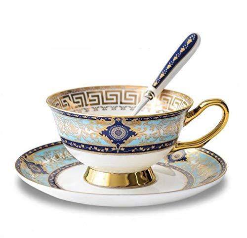 YBK Tech Ensemble tasse et soucoupe style européen en porcelaine anglaise pour le thé, le café, le petit-déjeuner, la cuisine