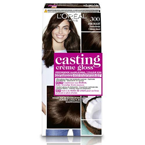 L'Oréal Paris Casting Crème Gloss 300 Dark Delight coloración del cabello Marrón - Coloración del cabello (Marrón, Dark Delight, Bélgica, 73 mm, 83 mm, 170 mm)