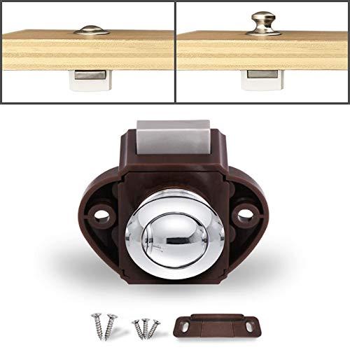 Autoslotgesp pers, type ladenkast, vangvergrendeling, kastdeurscharnier ladekast locker, voor RV/Jacht/Meubel, chroom bruin