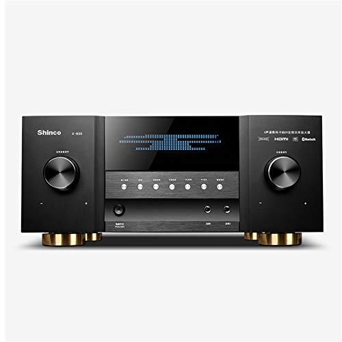 Audioendverstärker Bluetooth 5.1 - Heimkino-HDMI 4K Verstärker - mit 3D-Fiber Coaxial USB HiFi, für Bühnen KTV Karaoke,Schwarz