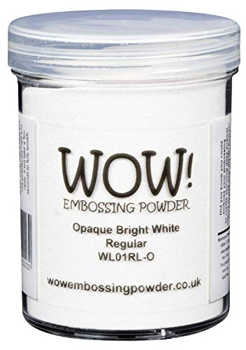 Ondoorzichtig Helder Wit (Grote TUB 160ml) - Regular - WOW! Embossing Poeder