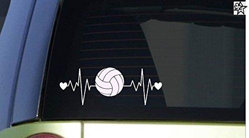 Herzschlag Aufkleber Volleyball 20cm Sticker Herz Fan Hobby Leidenschaft Liebe für Auto Autoaufkleber