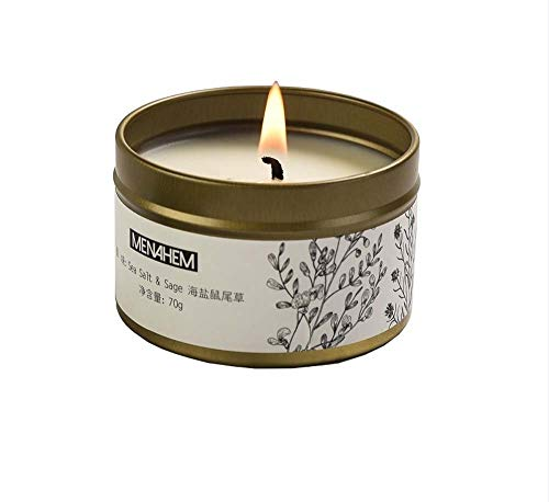 zheng xuan Aromatherapy candles, 100% soy wax, smokeless and deodorizing indoor tin can aromatherapy candles with souvenirs, very suitable for Christmas, Mother's Day, Valentine's Day (Yellow)