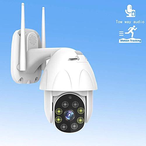 safc Kamera IP PTZ Außenhalbkugel 1080P, mit hochauflösender Nachtsicht-Fernüberwachung Zwei-Wege-Audio-Mobilerkennung Erkennung der Sicherheit zu Hause - 1080_12V_mit_64 GB