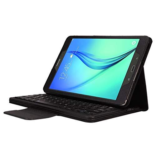 HUANGPUJIAN Fundas para teléfono Galaxy Tab A 9.7/T550 y S2 9.7/T810 2 en 1 desmontable teclado Bluetooth textura Litchi funda de cuero con soporte