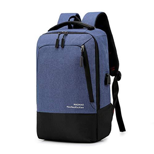 VECOLE Rucksäcke Herren Damen 2019 Neue Laptop-Tasche mit großem Fassungsvermögen Multifunktionsrucksack Schülertasche(Blau)