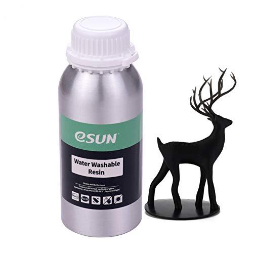 Aibecy eSUN Stampate 3D UV Resina Rapida lavabile con acqua per stampante 3D LCD Bottiglia di Materiale di stampa liquido Materiali con Anycubic Nova Sparkmaker Uniz 500 g / bottiglia