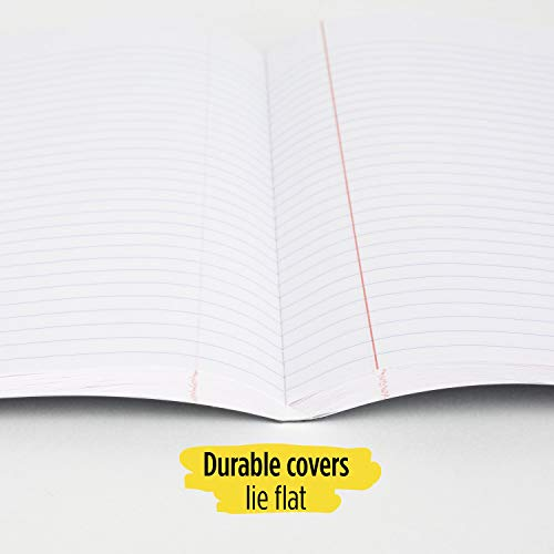 """Five Star DuraShield Composition Book with Antimicrobial Cover, 1 Subject, Wide Ruled Notebook, 10-1/2"""" x 8"""", 100 Sheets, Assorted, 4 Pack (950008-ECM) Photo #4"""
