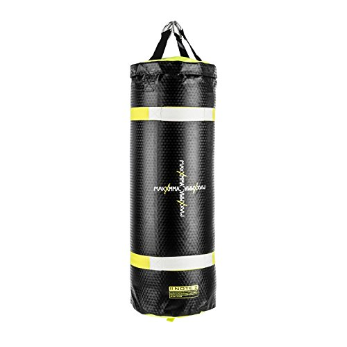Klarfit Maxxmma C Punching Bag Power Bag Uppercut Bag (Water/Air Filling, Artificial Leather/PVC, 35 to 55 Litres) Black