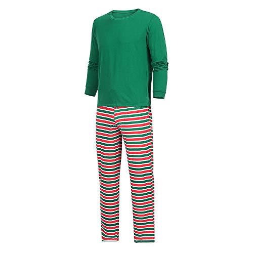 Moneycom❤ Ropa para mamá, bebé, niño, mamá, copo de nieve + pantalón de rayas para familias, pijamas multicolor Papa. XXXL