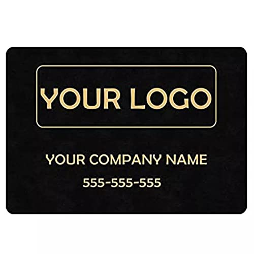 YUZE 40x60 cm Alfombra de Entrada Felpudo Personalizado de la Empresa Personalice su Logotipo Nombre Interior Exterior Divertido Bienvenido Entrada Puerta Alfombra Área Alfombra Decoración
