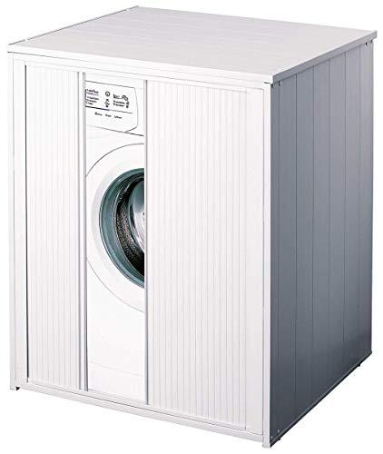 Mueble cubrelavadora XXL con pinza para todas las lavadoras/secadoras comerciales.