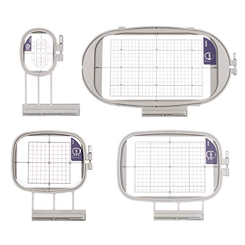 Sew Tech Embroidery Hoops for Brother Innovis NQ1600E NQ1400E NQ3600D Dream Machine 2 VE2200 4000D 1500D V7 V5 VM5200 Babylock Embroidery Machine Hoop (4in1-B Set)