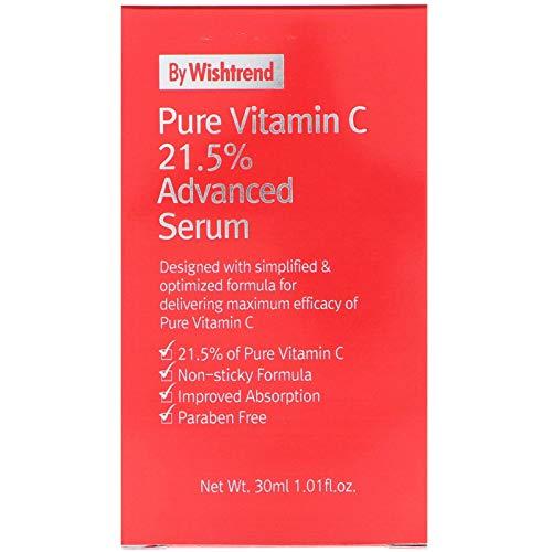 C20by Wishtrend, Pure Vitamin C21.5Advanced Serum, 30ml, Brightening, Whitening, Skin Tone Improvement, Pure Ascorbic Acid by C2O