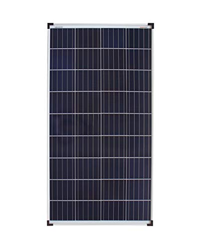 enjoy solar® Poly 140W Solarpanel Polykristallin Solarmodul Solarzelle ideal für Wohnmobil, Gartenhäuse, Boot (Poly 140W-12V)