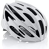 TeamObsidian Bicycle Helmet - for Adult Men and Women - Model G1342 - Color White - Size M/L 58cm-62cm