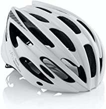 TeamObsidian Airflow Adult Bike Helmet - Lightweight Helmets for Adults with Reinforcing Skeleton - Comfortable and Breathable Cycling Mountain Bike Helmet - White M/L