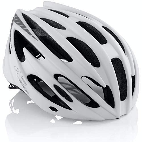 TeamObsidian Airflow Bike Helmet - for Adult Men & Women and Youth/Teenagers - CPSC Certified Bicycle Helmets for Road, Urban, Street or Mountain Biking - Best Cycling Gift Idea [ White S/M ]
