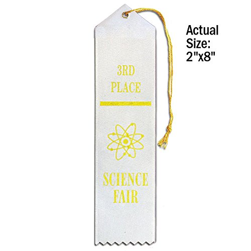 Set of 50 Science Fair 3rd Place Ribbons - Carded