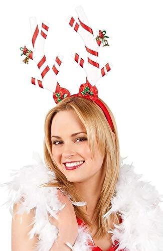 falksson Cerchietto con Bastoncini di zucchero per adulto Natale