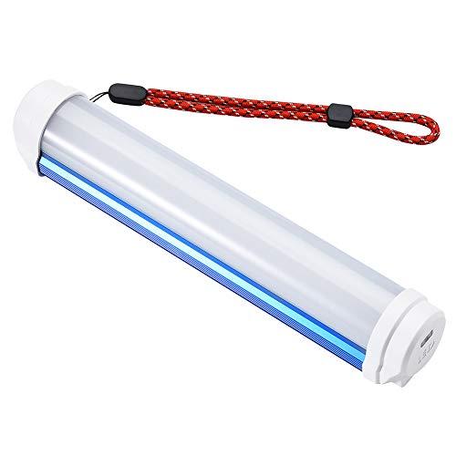 Meijunter Extérieur Camping Lumière - Portable Dimmable Lanterne Rechargeable Magnétique Lampe avec USB Câble pour Randonnée Cyclisme (Bleu)
