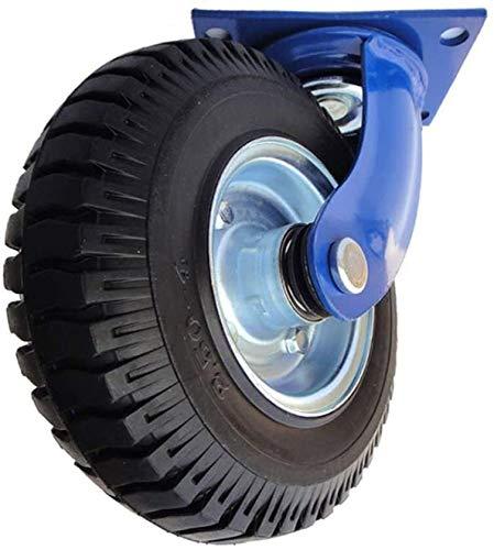 Rodamientos pivotantes para mueble La absorción del desgaste Heavy Duty Negro Rodamientos de neumáticos de caucho Caster choque Tamaño Resistencia Nombre: 8 pulgadas Nombre de color: azul electrodomés