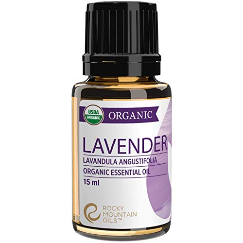 Organic Lavender Essential Oil by Rocky Mountain Oils 15ml - 100% Pure Essential Oils