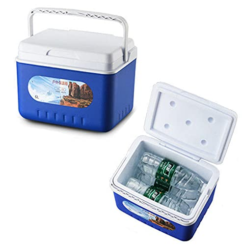 Caja de refrigeración 6L con 5 paquetes de hielo Incubadora de enfriador al aire libre Picnic Box Caja de medicina Caja de medicina Refrigerador portátil para picnic 6L(5 ice packs)