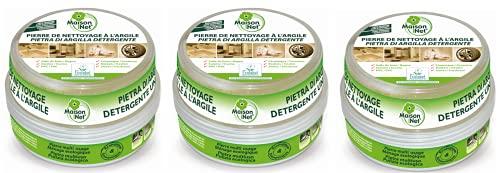 Maison Net Pierre de Nettoyage à l'Argile Ecolabel 250 g - Lot de 3