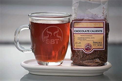 SABOREATE Y CAFE THE FLAVOUR SHOP Te Rooibos Chocolate Caliente en Hebra Hoja Granel Infusiones Naturales Bebida Isotonica 100 Gramos