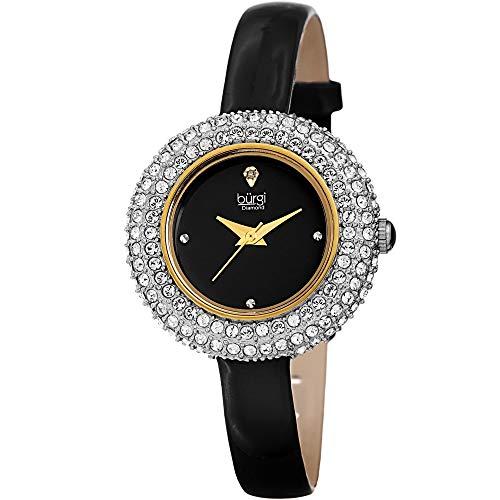 Burgi donna BUR195BK Swarovski cristallo e diamante Accentati oro giallo e...