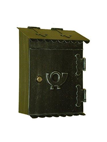 Lorenz Ferart 6013.0 brievenbus, smeedijzer, frame zwart handgetint, zilver